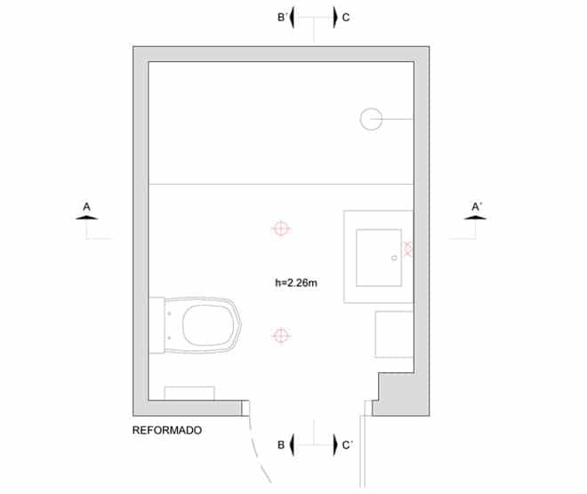 plano baño integral eixample esquerre