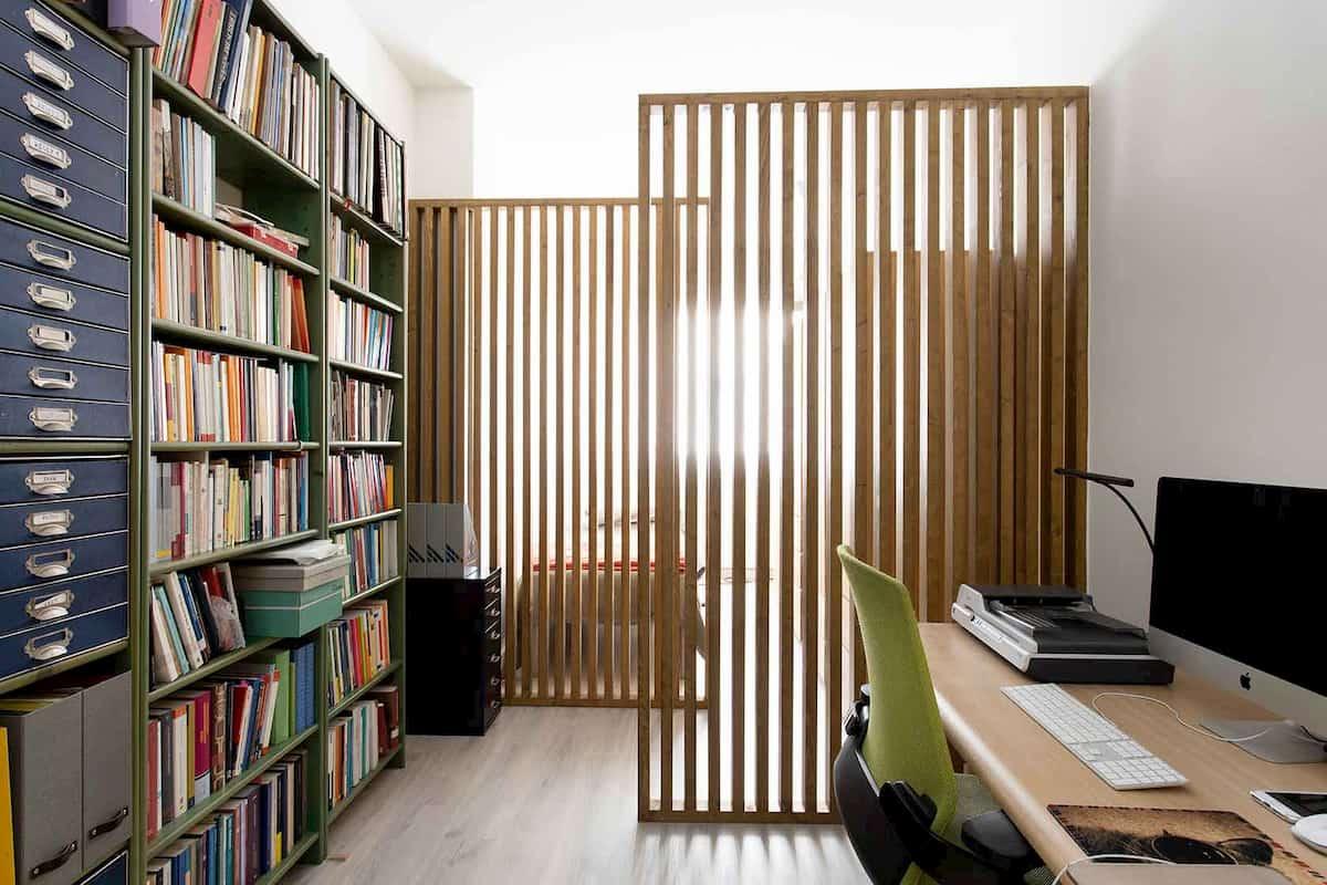 Estudio, escritorio y libreia