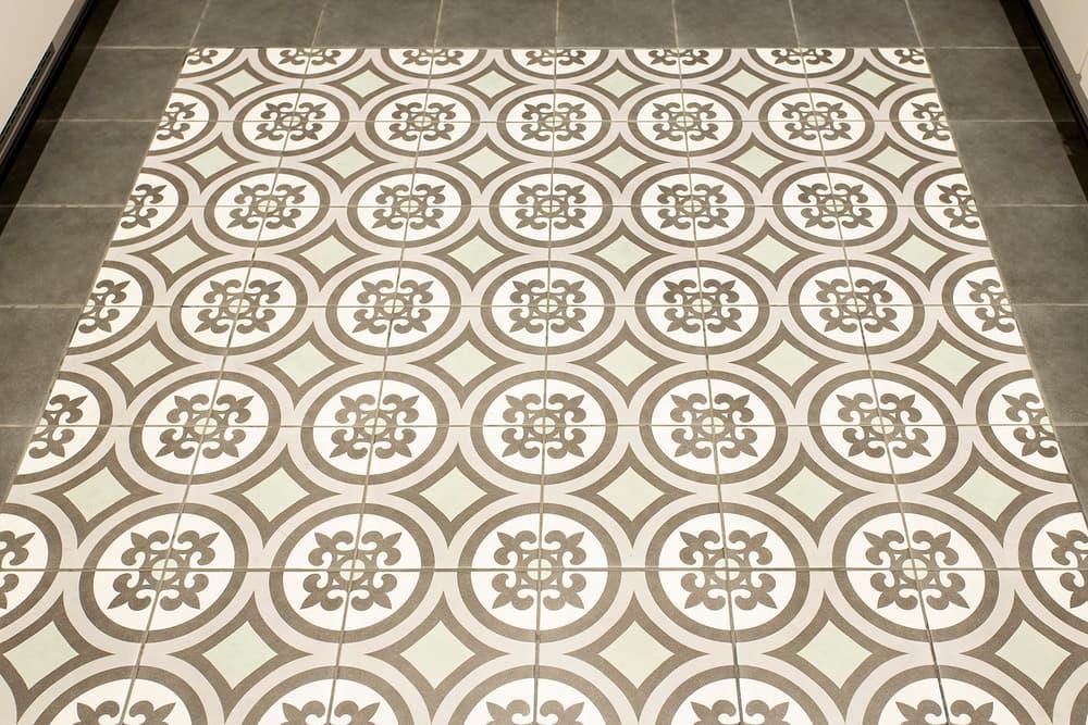 Suelo de mosaico