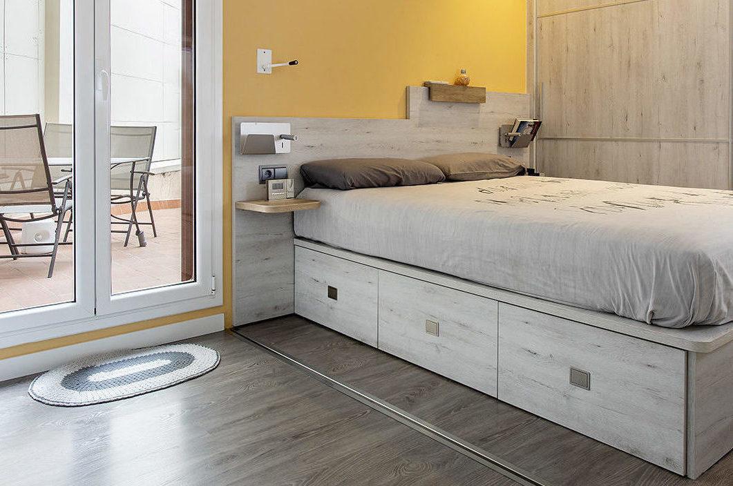 Habitación con los paneles abiertos