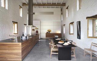cocina en casa rustica