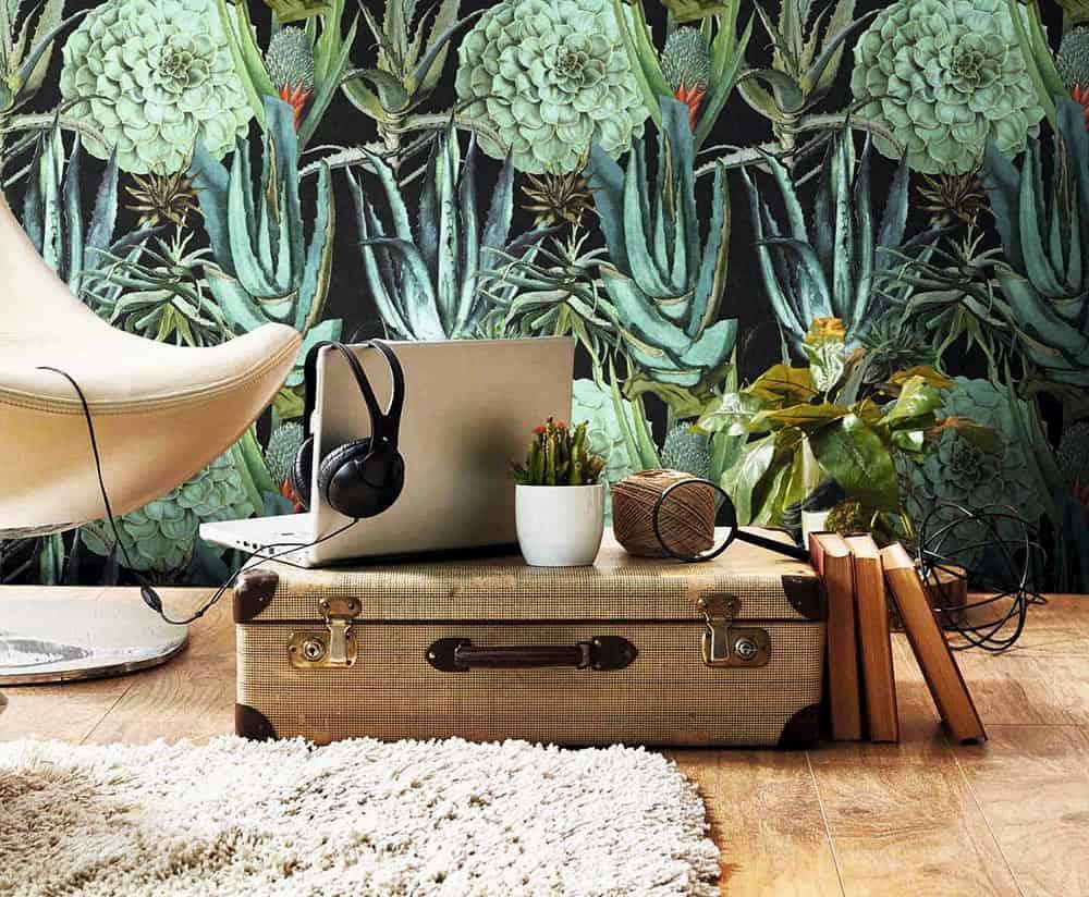 vinilo decorativo plantas