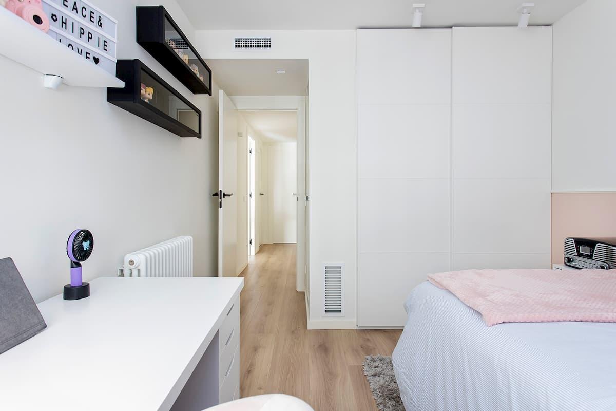 dormitorio juvenil en rosa