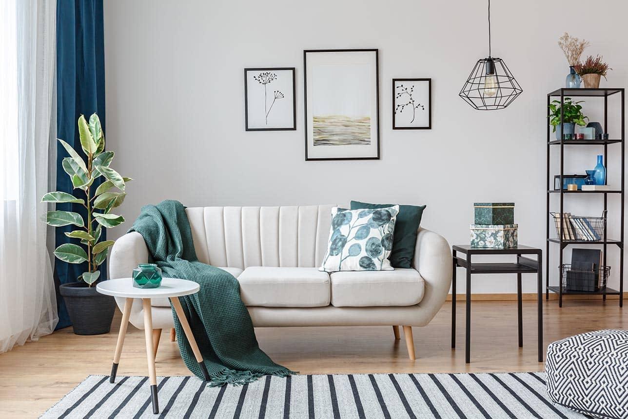 Decorar salones modernos con textiles