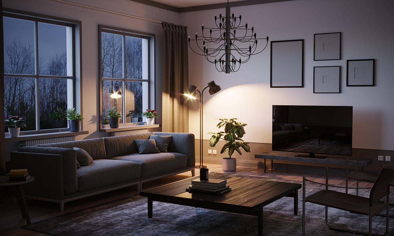 Decoración salones modernos con lámparas