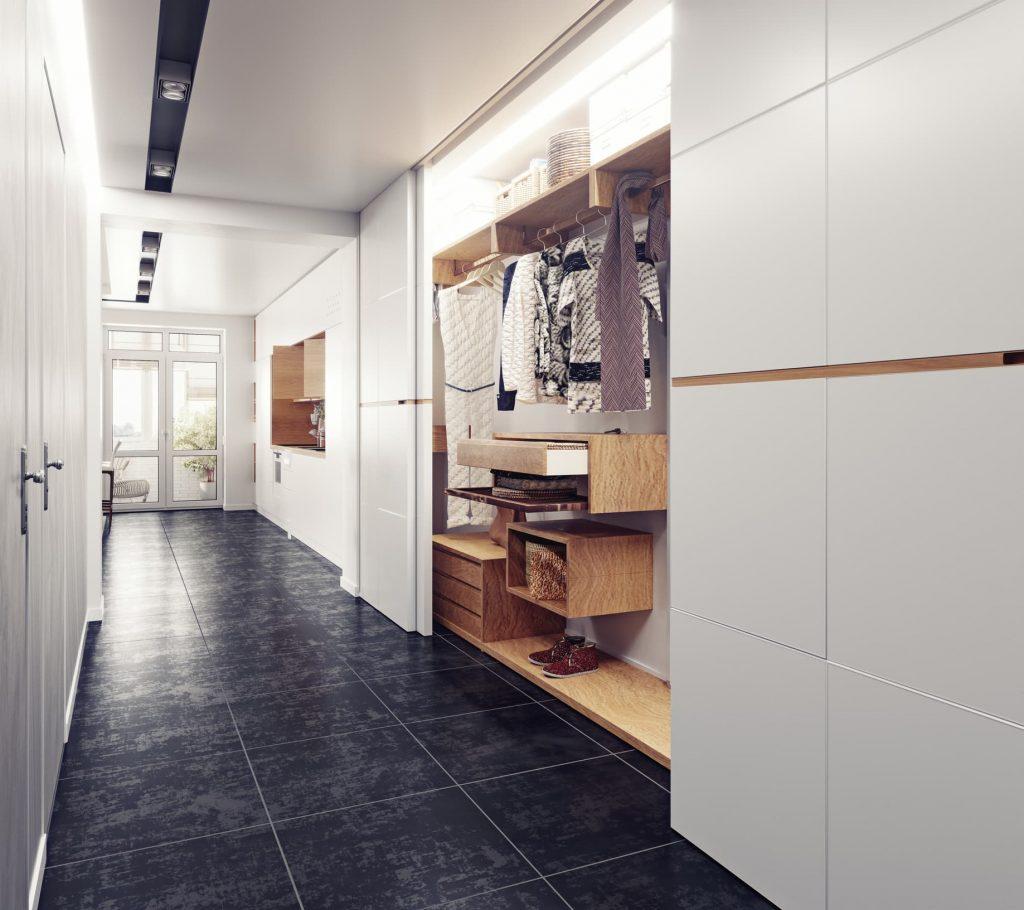 Muebles para pasillos estrechos