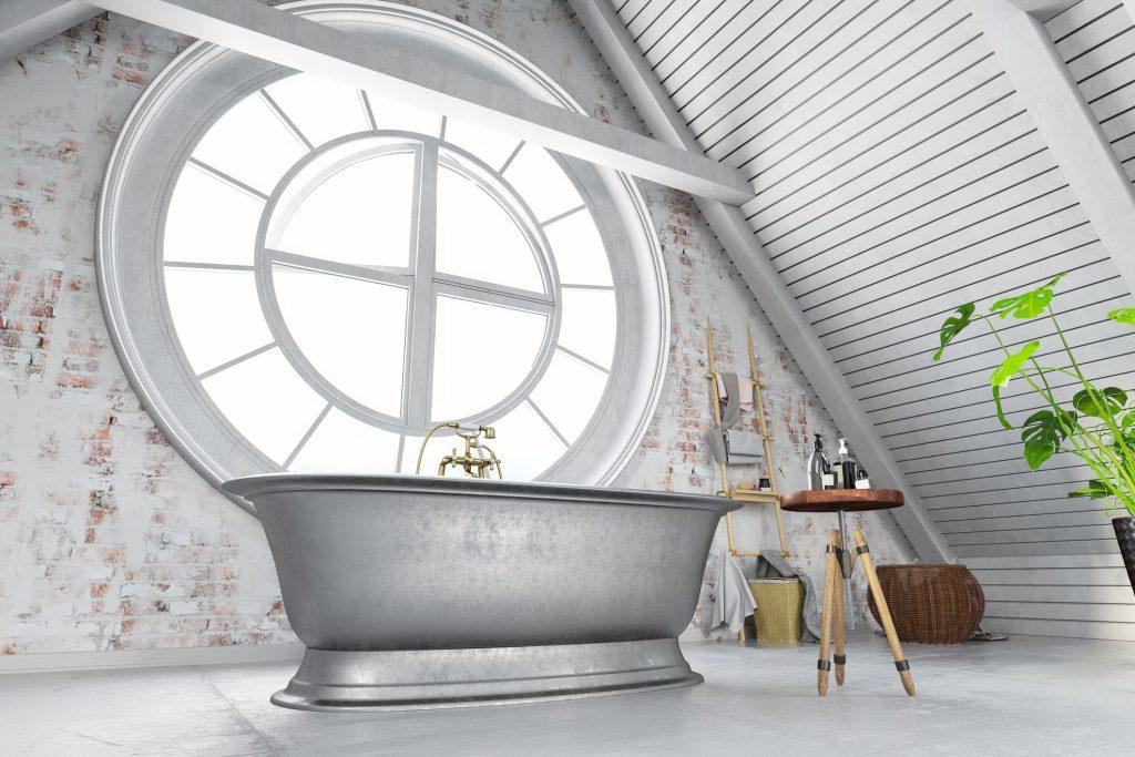 Ideas de baños gris y blanco