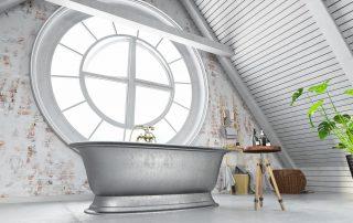 Ideas baños en gris y blancos