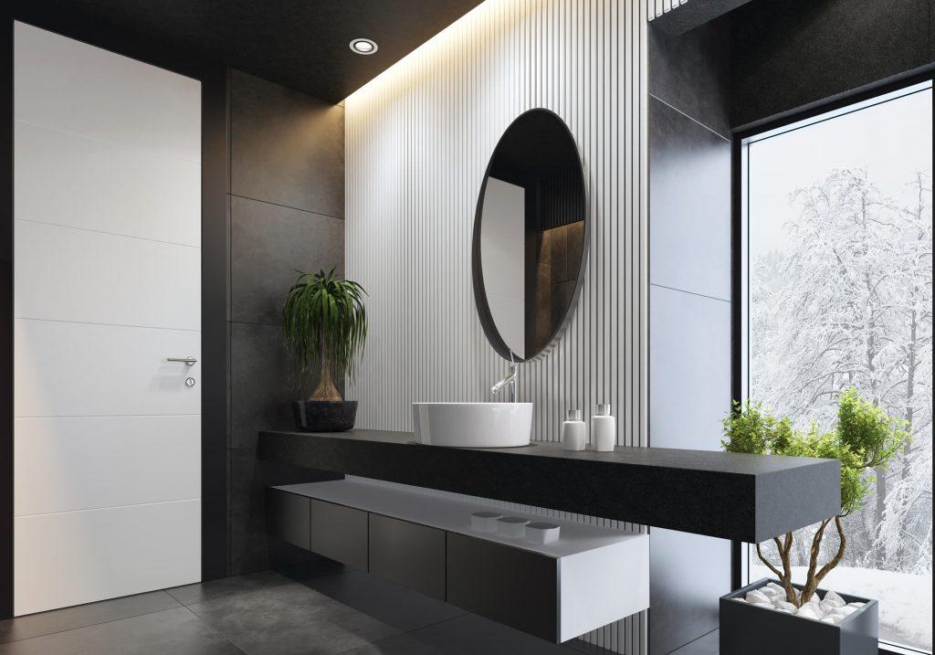 Inspiración baños en blanco y gris