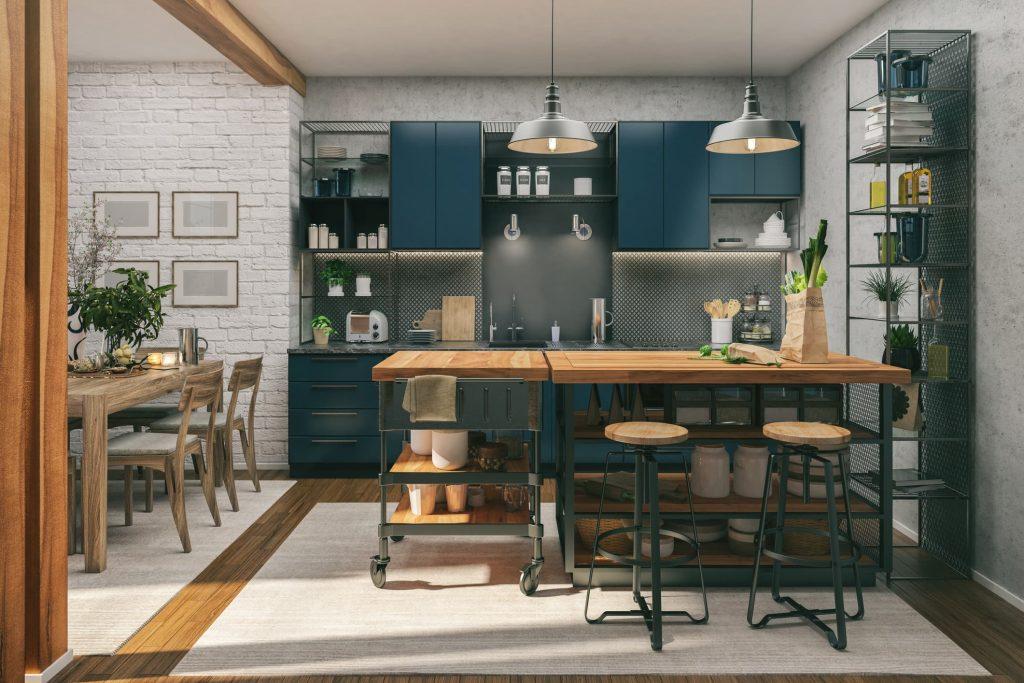 Ideas de cocinas en azul y blanco