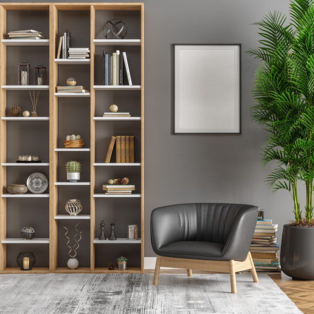Ideas decoración con estanterías