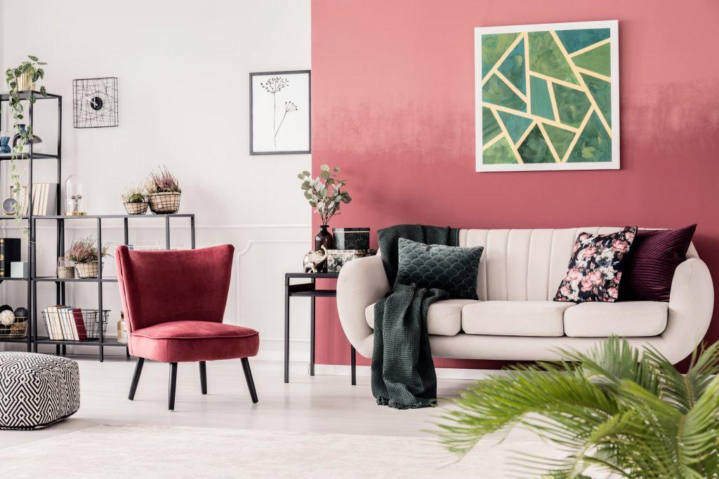 Salones con paredes dos colores