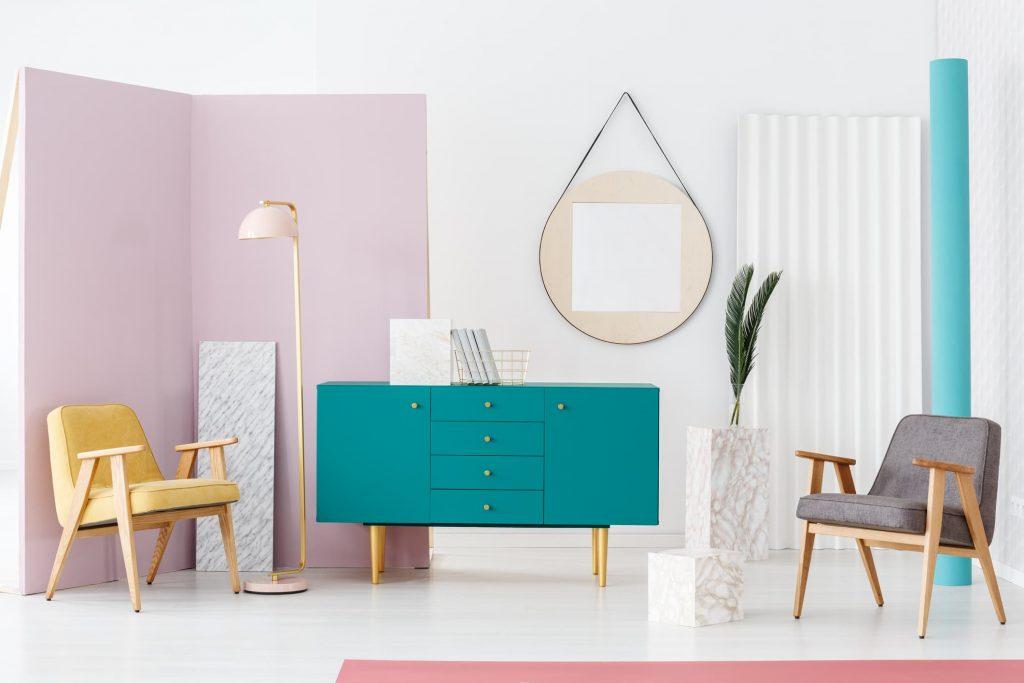 Tendencia salones pintados en dos colores