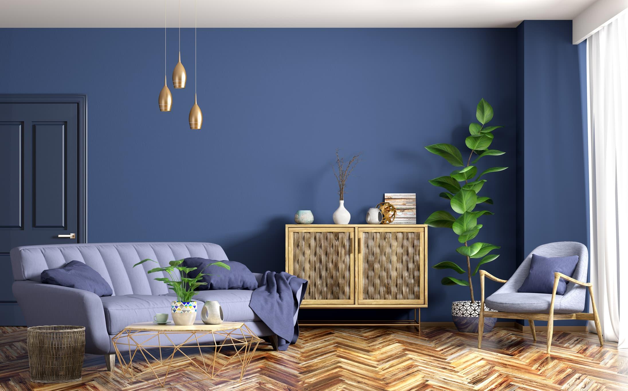 paredes en azul
