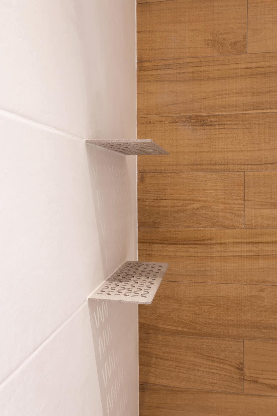 estantes de ducha