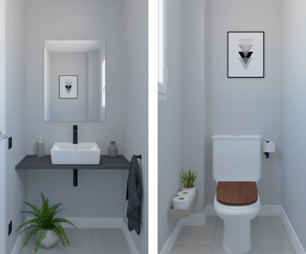 Baño industrial Básico White