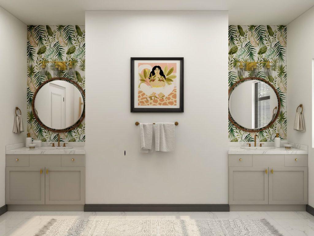 Papel pintado para el baño